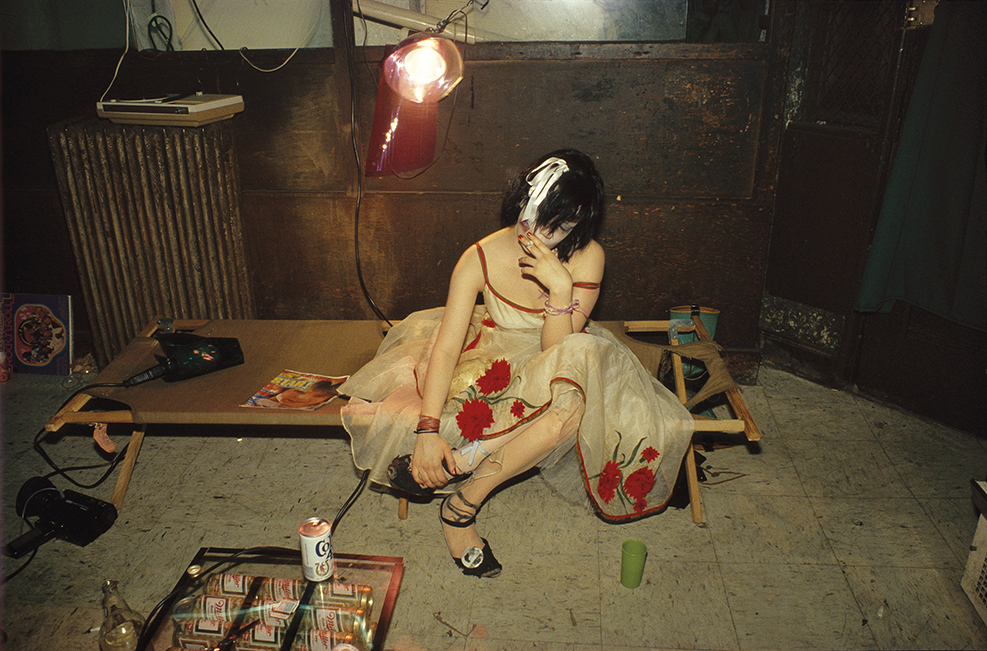 Trixie on the cot, New York City 1979 by Nan Goldin