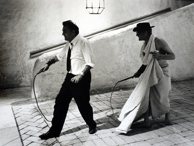 Foto di Tazio Secchiaroli, Fellini e Mastroianni, Roma 1963