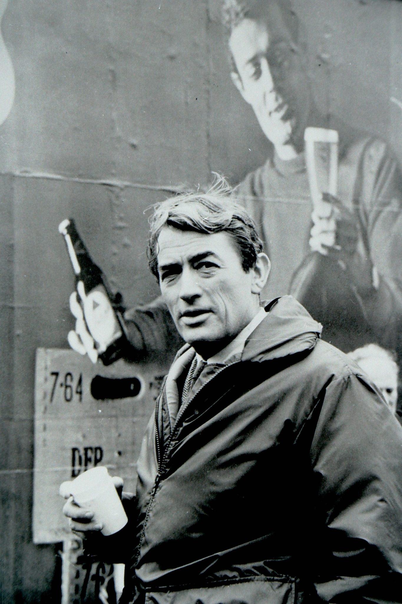 Foto di Tazio Secchiaroli, Gregory Peck, Cardiff 1966