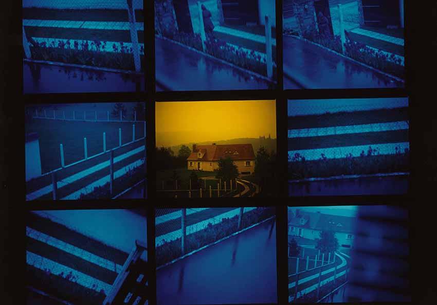 """Tom Drahos, Mission photographique de la DATAR. Dalla serie """"Banlieue parisienne, les espaces périurbains de la région parisienne"""", Chevreuse (Seine-et-Oise ),1986. © ADAGP, Paris 2017. Coutersy of BnF, Estampes et photographie"""