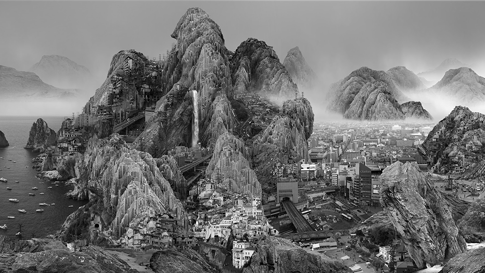 "Yang Yongliang, Yang Yongliang, Endless Streams, 2017, Single-channel 4K Video 7'00"" (video still) © Yang Yongliang, courtesy Galerie Paris-Beijing"